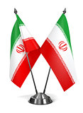 Iran  - Miniature Flags.