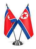 North Korea - Miniature Flags.