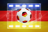 Soccer ball, German flag