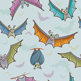 Seamless pattern with bats.