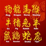 Chinese Horoscope - vector set.
