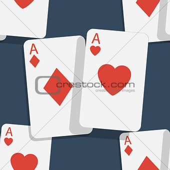 Casino poker seamless background