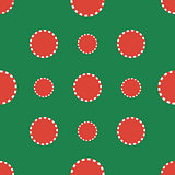 Casino chips. Seamless pattern