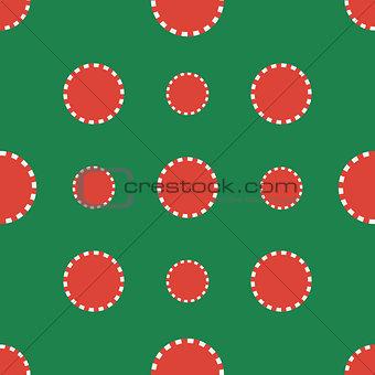 Casino chips. Seamless pattern