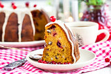 Piece of holiday bundt cake