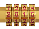 2015 Year combination lock