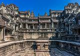courtyard Angkor Wat Cambodia
