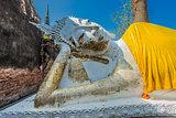 reclining buddha statue Wat Yai Chai Mongkhon Ayutthaya bangkok