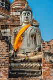buddha statue Wat Yai Chai Mongkhon Ayutthaya bangkok Thailand