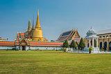 courtyard grand palace Wat Phra Kaew Bangkok Thailand