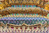 column detail grand palace Phra Mondop bangkok Thailand
