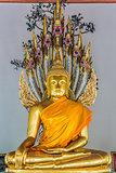golden Buddha statue Wat Pho temple bangkok Thailand