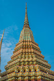 colorful chedi Wat Pho temple bangkok Thailand