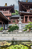 fountain Chi Lin Nunnery Kowloon Hong Kong