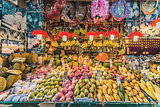 tropical fruit market stand Causeway Bay Hong Kong