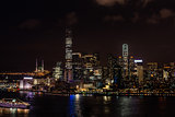 cityscape night Tsim Sha Tsui Hong Kong