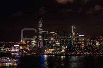 cityscape night Tsim Sha Tsui Hong Kong