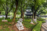 Chinese Zodiac garden statues Kowloon Walled City Park Hong Kong