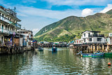 stilt houses Tai O Lantau island Hong Kong