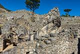 condor temple Machu Picchu ruins peruvian Andes Cuzco Peru