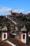 ouro preto cityscape minas gerais brazil