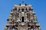 gopuram Vishnu Temple Cochin Kerala state india