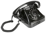 Old Black Bakelite Telephone Cutout