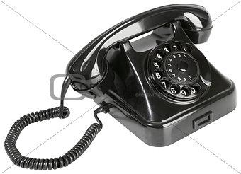 Old Black Bakelite Telephone Cutout