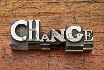 change word in metal type