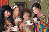 Serious Women Drinking Tea
