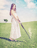 young girl  shot