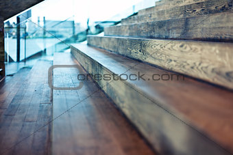 old wooden stair