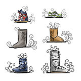 Season shoes collection, sketch for your design