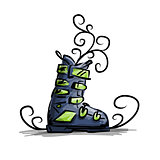 Ski boots, sketch for your design