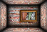 painting frame with weathered textures