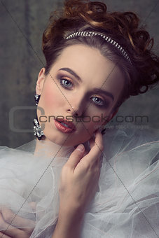 aristocratic retro woman