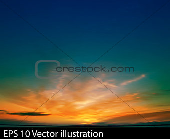 abstract nature clouds background with golden sunrise