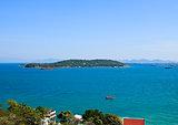Top view of Sichang Island ,Chonburi ,Thailand.