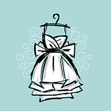 Dress on hangers, sketch for your design