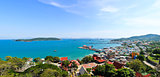 Panorama view of  Srichang Island ,Chonburi ,Thailand.