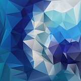 vector polygonal background pattern - triangular design blue colors - diamond spiral