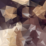 vector polygonal background pattern - triangular design in brown colors - chocolade