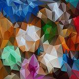 vector polygonal background pattern - triangular design in full colors - abstract flowers