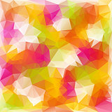 vector polygonal background pattern - triangular design in reflextive colors - spring