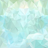 vector polygonal background pattern - triangular design in blue colors - ice