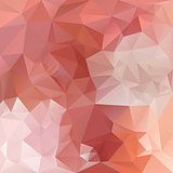 vector polygonal background pattern - triangular design in orange colors - opal