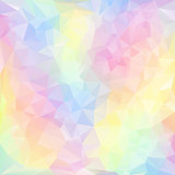 vector polygonal background pattern - triangular design in pastel colors - spring