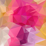 vector polygonal background - triangular design in reflective magenta colors - pink rose