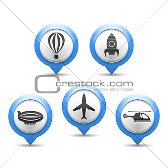 Air Transport Icons