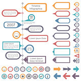 Timeline Infographics Elements Collection